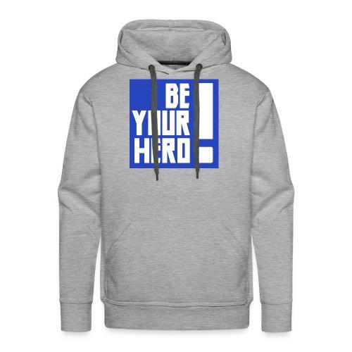 Sois ton héros bleu - Sweat-shirt à capuche Premium pour hommes