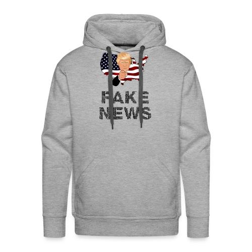 Trump Fake news - Männer Premium Hoodie