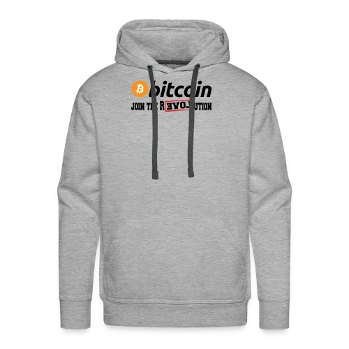 Bitcoin Join the Revolution - Männer Premium Hoodie