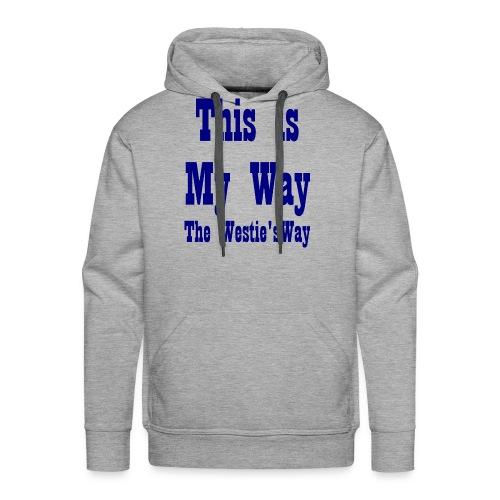 This is My Way Navy - Men's Premium Hoodie