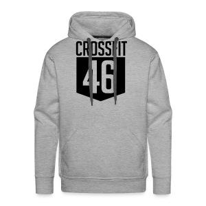 CROSSFIT46 big logo - Premium hettegenser for menn