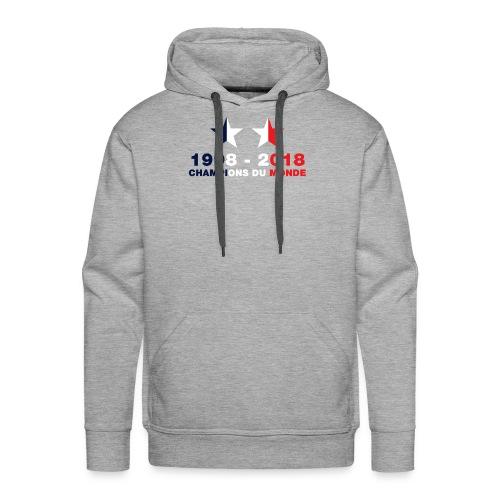 France - Champions du monde - 1998-2018 - Sweat-shirt à capuche Premium pour hommes