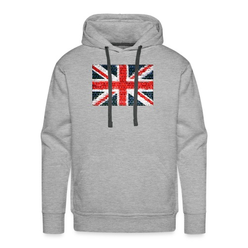Union Jack Brick Wall - Men's Premium Hoodie