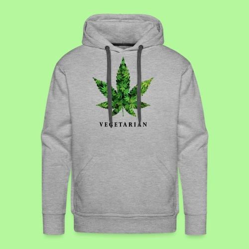 Weed Leaf Vegetarian T-shirt - Men's Premium Hoodie
