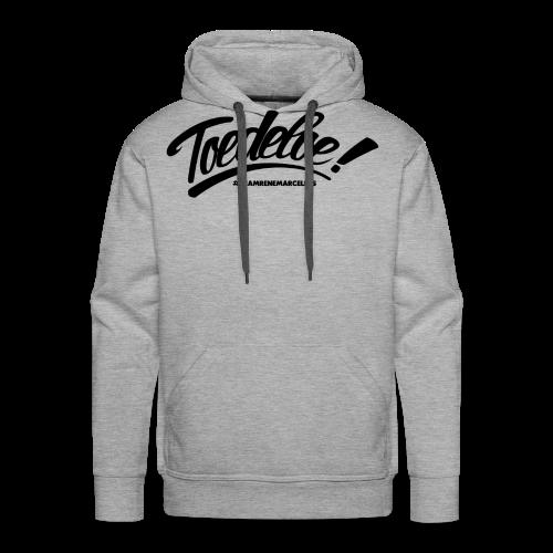 toedeloe zwart - Mannen Premium hoodie