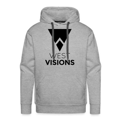 WestVision Logo schwarz - Männer Premium Hoodie