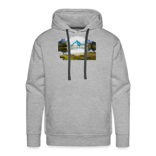 Logo mit Berglandschaft - Männer Premium Hoodie