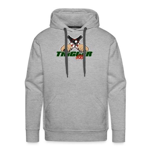 Trigger Grün großes Logo - Männer Premium Hoodie