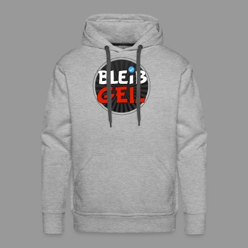 BleibGeil RotSchwarz - Männer Premium Hoodie