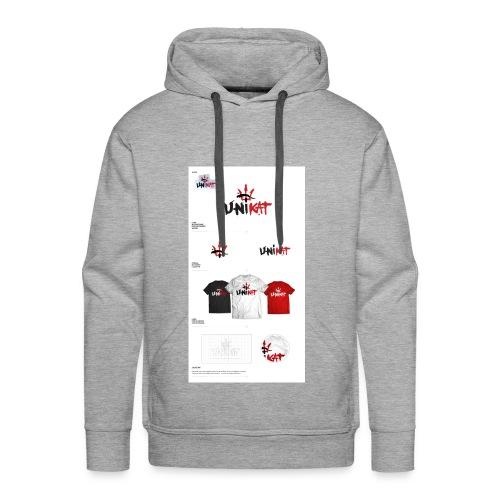 unikat_1 - Bluza męska Premium z kapturem