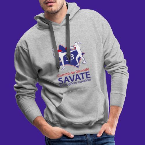 Comité Savate 33 - Sweat-shirt à capuche Premium pour hommes