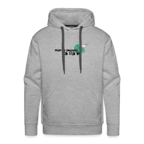 test - Sweat-shirt à capuche Premium pour hommes