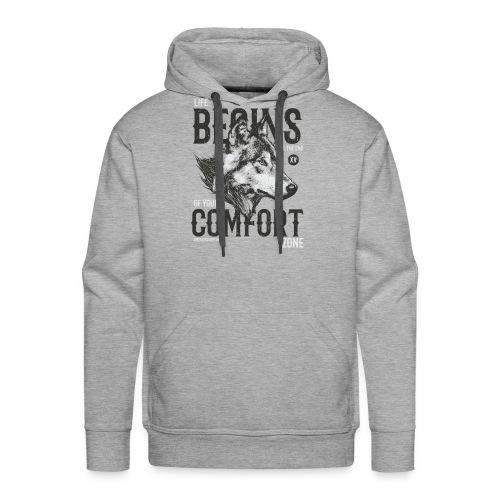 Uscire dalla comfort zone - Felpa con cappuccio premium da uomo