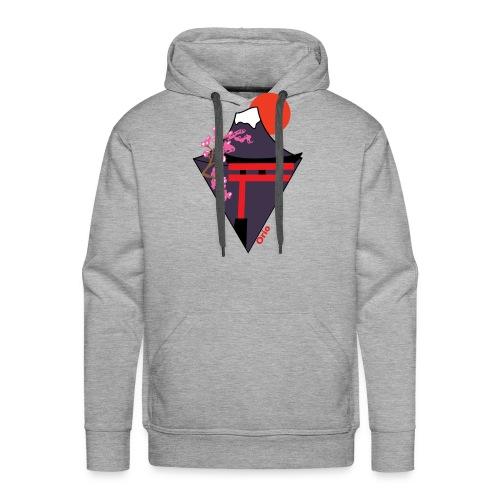Mont Fuji 02 - Sweat-shirt à capuche Premium pour hommes