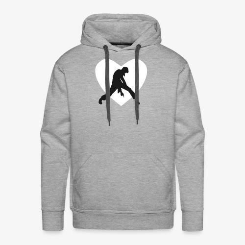 coeur blanc rocker noir - Sweat-shirt à capuche Premium pour hommes