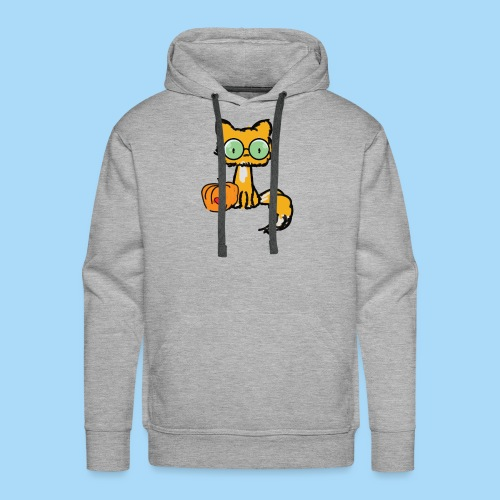 Katze Kürbis Halloween Herbst Orange - Männer Premium Hoodie