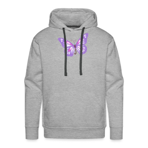 mariposa bb lila - Sudadera con capucha premium para hombre
