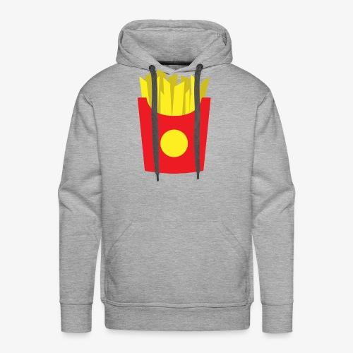 French fries - Sweat-shirt à capuche Premium pour hommes