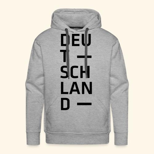 Deutschland Typo T Shirt Spruch - Männer Premium Hoodie