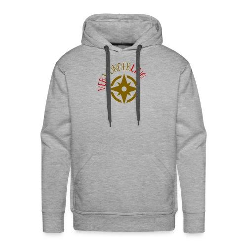 Verwonderling klein logo - Mannen Premium hoodie