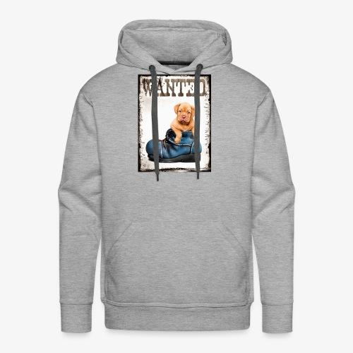 wanted puppy - Sweat-shirt à capuche Premium pour hommes