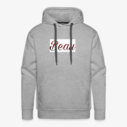 itzBeau Beau with white background - Men's Premium Hoodie
