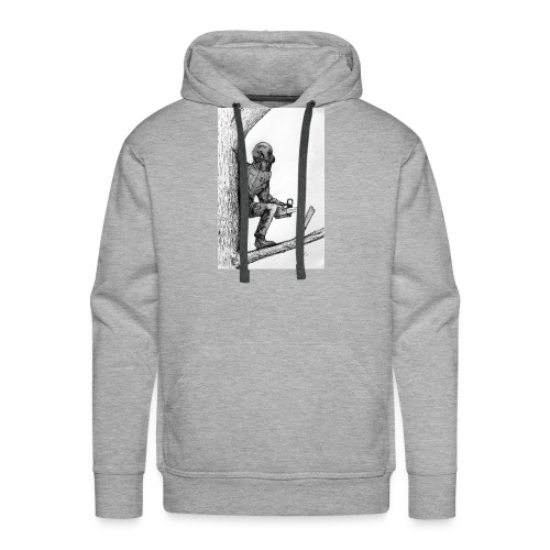 Arborist Tree Surgeon Using a Chainsaw - Men's Premium Hoodie