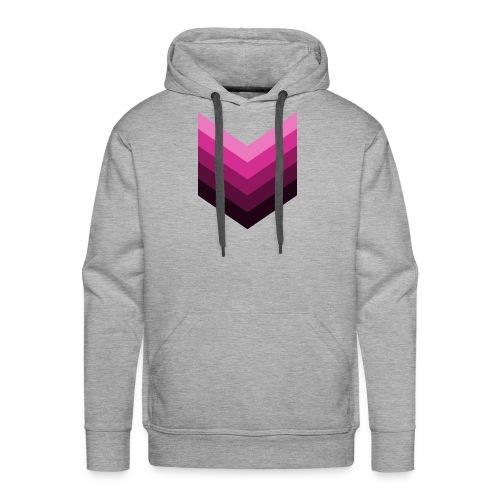 Chevrons roses - Sweat-shirt à capuche Premium pour hommes