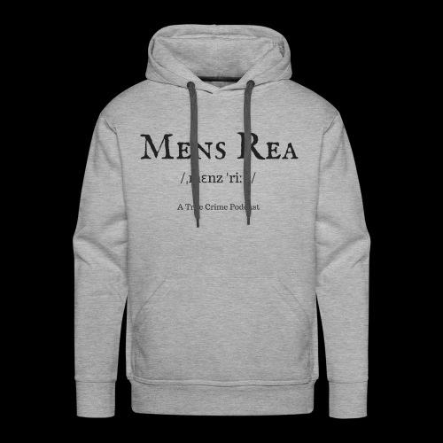 Mens Rea Logo - Men's Premium Hoodie