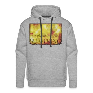 La planète souffre - Sweat-shirt à capuche Premium pour hommes