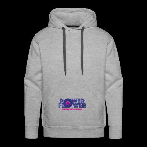 Logo PowerFlower colori - Felpa con cappuccio premium da uomo