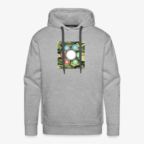 Singularité Box Logo Camo Vert - Sweat-shirt à capuche Premium pour hommes