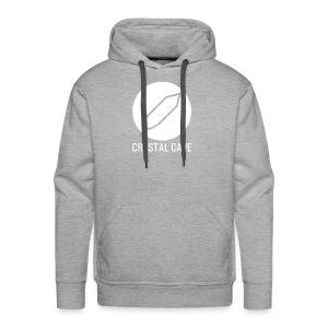 Crystal Cave Logo bianco - Felpa con cappuccio premium da uomo