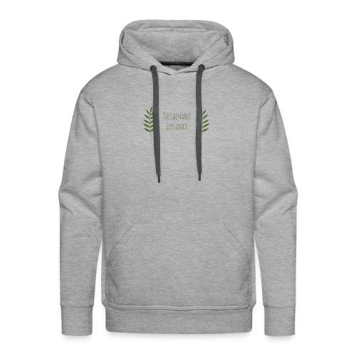 Sustainable Existence Logo (Green) - Men's Premium Hoodie