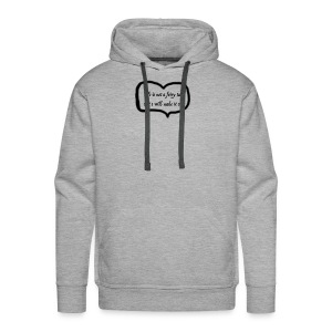 life is not a fairy tale with heart - Men's Premium Hoodie