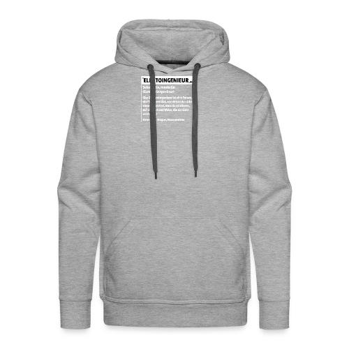 Elektroingenieur Definition - Männer Premium Hoodie