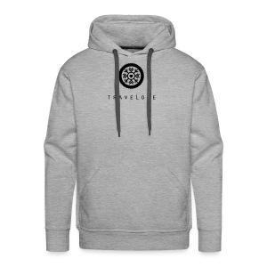 TraveLove schwarzer Aufdruck - Männer Premium Hoodie
