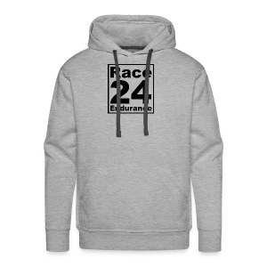 Race24 logo in black - Men's Premium Hoodie