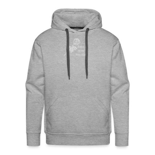 Rose Weiß - Männer Premium Hoodie