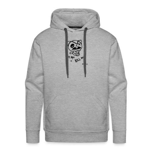 Happy tree friends Hug me or kill me - Dark cat' - Sweat-shirt à capuche Premium pour hommes