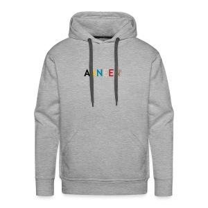 AANEEN_Alleen_Letters - Mannen Premium hoodie