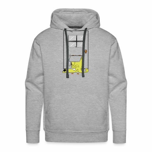 Stuck in a door dog - Men's Premium Hoodie
