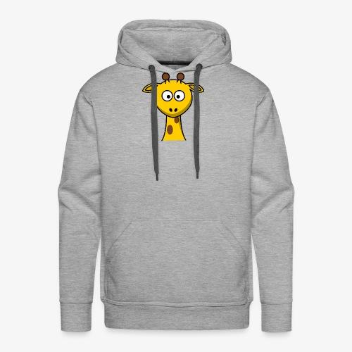 giraffe - Felpa con cappuccio premium da uomo