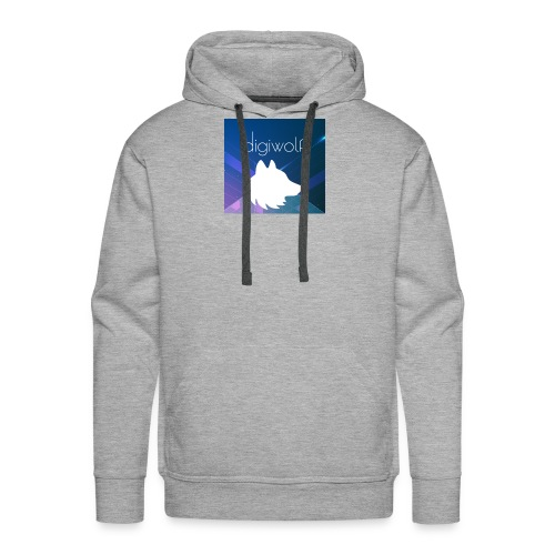 Digiwolf Logo Print - Men's Premium Hoodie