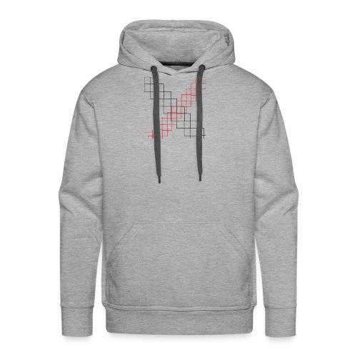 squares - Sweat-shirt à capuche Premium pour hommes