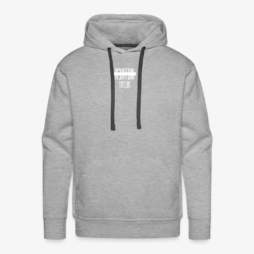 AshtonTaylor Merch Logo Modern White - Men's Premium Hoodie