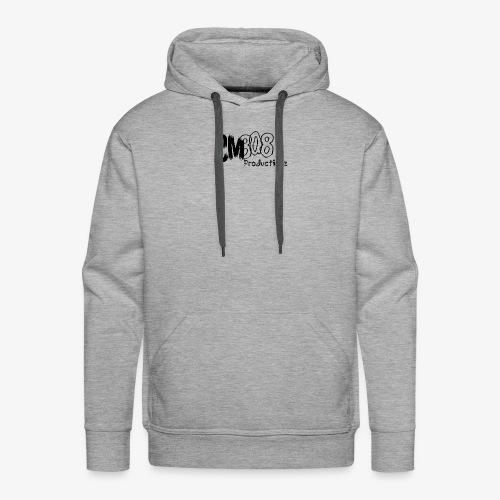 CM808 : Blck on Blck - Mannen Premium hoodie