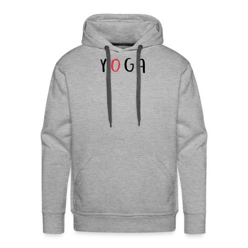Aufschrift YOGA - Männer Premium Hoodie