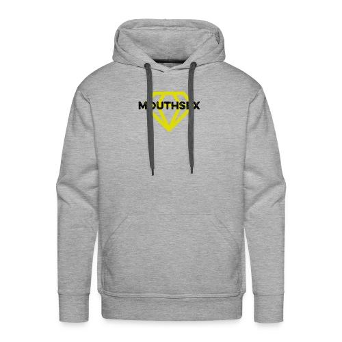 Mouthsex Diamond Black Font - Männer Premium Hoodie