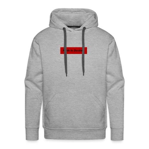 La fe en el destino - Sudadera con capucha premium para hombre